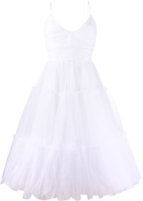 Brognano Tiered Tulle Dress