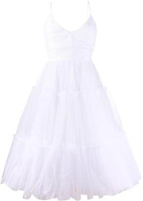 BROGNANO Tiered Tulle Dress