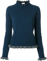 RED Valentino ruffle trim knit pullover