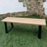 Urban Metalworks Solid Oak And Steel Loop Leg Bench