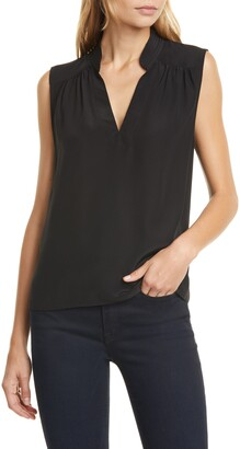 Frame Cali Sleeveless Silk Top