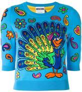 Moschino peacock intarsia jumper - women - Cotton - 42
