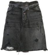 Amiri fold over denim skirt