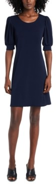 MSK Puff-Sleeve Sheath Dress