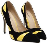 Janeyer Women's Newly Contrast Pointy Toe Stiletto Pumps Commuter High Heels