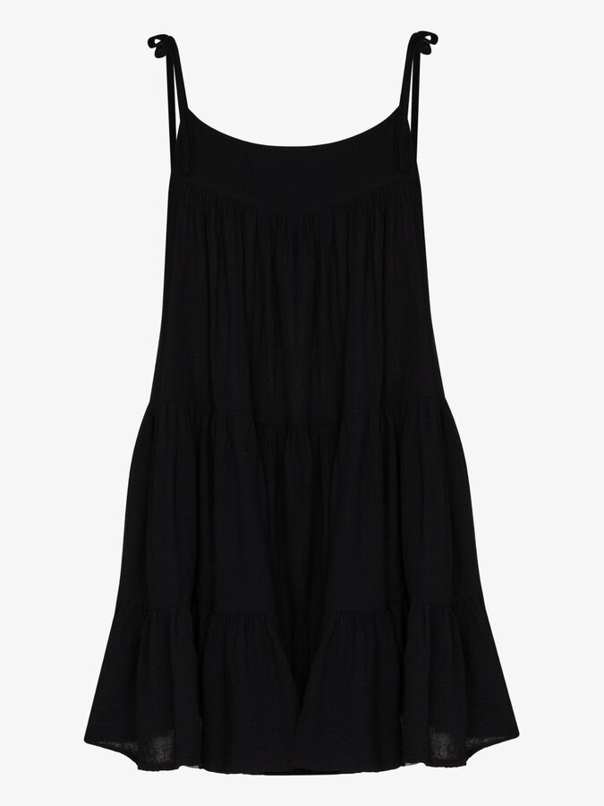 Thumbnail for your product : HONORINE Black Peri Tiered Mini Dress