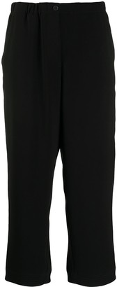 Alberto Biani Cropped Pull-On Trousers