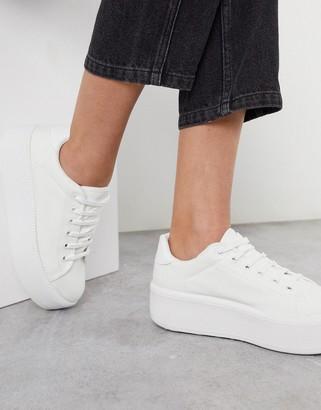 ASOS DESIGN Dreamer flatform chunky trainers in white