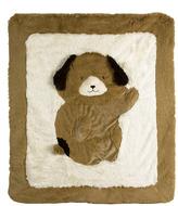 Brown Dog Plush Playmat