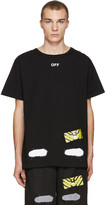 Off-White Black Diagonal Spray T-Shirt