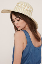 Forever 21 FOREVER 21+ Two-Tone Floppy Straw Hat