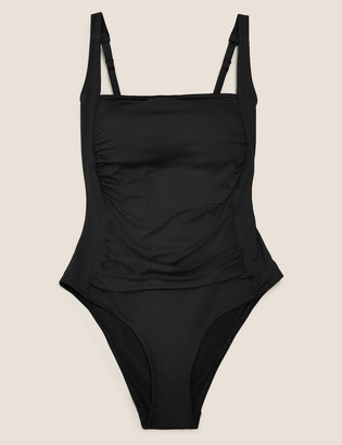 Marks and Spencer Tummy Control Ruched Square Neck Swimsuit