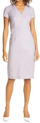 HUGO BOSS Danati Wool Sheath Dress