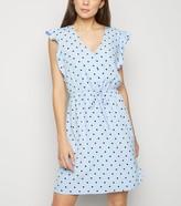 New Look Spot Drawstring Waist Mini Dress