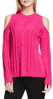 Vince Camuto Cable-Knit Cold Shoulder Sweater