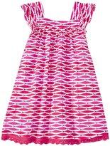 Hatley Tropical Ocean Dress (Toddler/Kid) - Pink - 3T