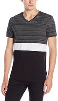 Calvin Klein Men's Short Sleeve Color Block V-Neck T-Shirt