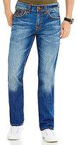 True Religion Ricky Slim Straight Contrast-Stitch Jeans