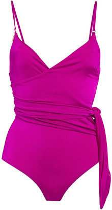 Stella McCartney Embellished Wrap-effect Swimsuit