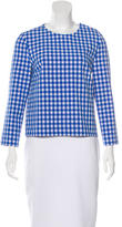 Diane von Furstenberg Giselle Checkered Top w/ Tags