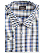 Alfani Black Men's Classic/Regular Fit Blue Multi Gingham Dress Shirt, Only at Macy's