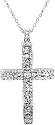 Noray Designs 14k White Gold 1 1/6ct TDW Diamond Cross Pendant