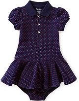 Ralph Lauren Baby Girls 3-24 Months Polka-Dot Short-Sleeve Pique Shirt Dress
