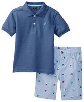 Nautica 2-Piece Polo & Printed Short Set (Toddler Boys)