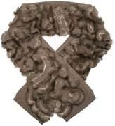 Liska cashmere and sable scarf