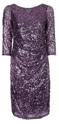 Dorothy Perkins Womens **Billie & Blossom Purple Sequin Bodycon Dress, Purple