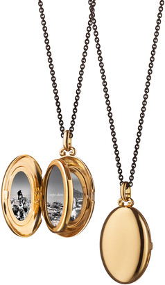 Monica Rich Kosann Midi 18k Gold Oval Locket Necklace