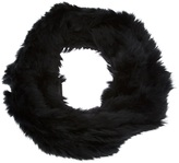 Emporio Armani rabbit fur snood