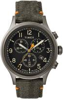 Timex Allied Chronograph Men's Green Fabric Strap Watch