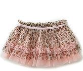 Baby Starters Baby Girls 3-12 Months Leopard-Printed Tutu Skirt