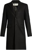 Saint Laurent Single-breasted wool overcoat