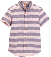 Tailor Vintage Short Sleeve Linen Cotton Rugby Stripe Top (Little Boys & Big Boys)