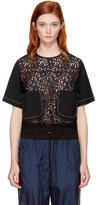 3.1 Phillip Lim Black Lace Combo Boxy T-Shirt