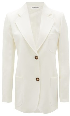 Victoria Beckham Bowie Single-breasted Wool Jacket - Ivory