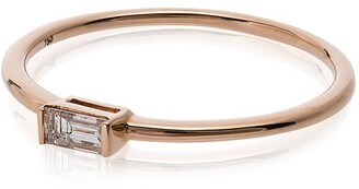 Rosa De La Cruz 18k Rose Gold Baguette Diamond Ring