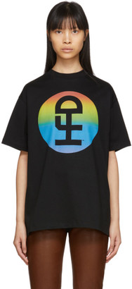 Honey Fucking Dijon Black Large Rainbow Logo T-Shirt