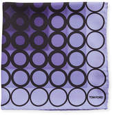 Tom Ford Dotted Silk Pocket Square, Dark Purple