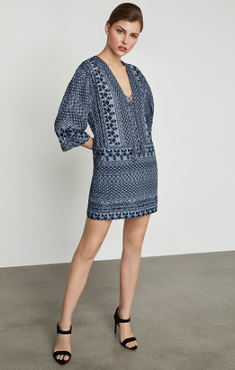 BCBGMAXAZRIA Milana Embroidered Gauze Dress