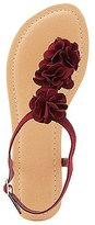Charlotte Russe Floral T-Strap Thong Sandals