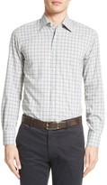 Canali Men's Regular Fit Windowpane Plaid Sport Shirt