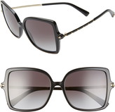 Valentino 56mm Rockstud Butterfly Sunglasses