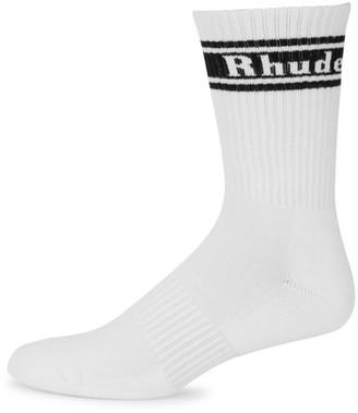 Rhude Stripe Logo Crew Socks