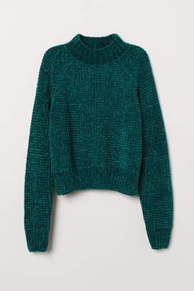 H&M Rib-knit Sweater - Green