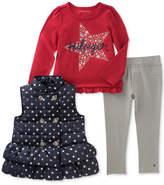 Tommy Hilfiger 3-Pc. Hooded Vest, Long-Sleeve T-Shirt & Leggings Set, Little Girls (4-6X)