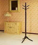 Frenchi Swivel 6-Hook Coat Rack, Cherry Finish