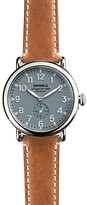 Shinola The Runwell Brown Strap Watch, 41mm
